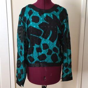 Vintage silk Flora Kung blouse